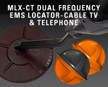 MLX-CT Dual Frequency EMS Locator-Cable Tv & Telephone
